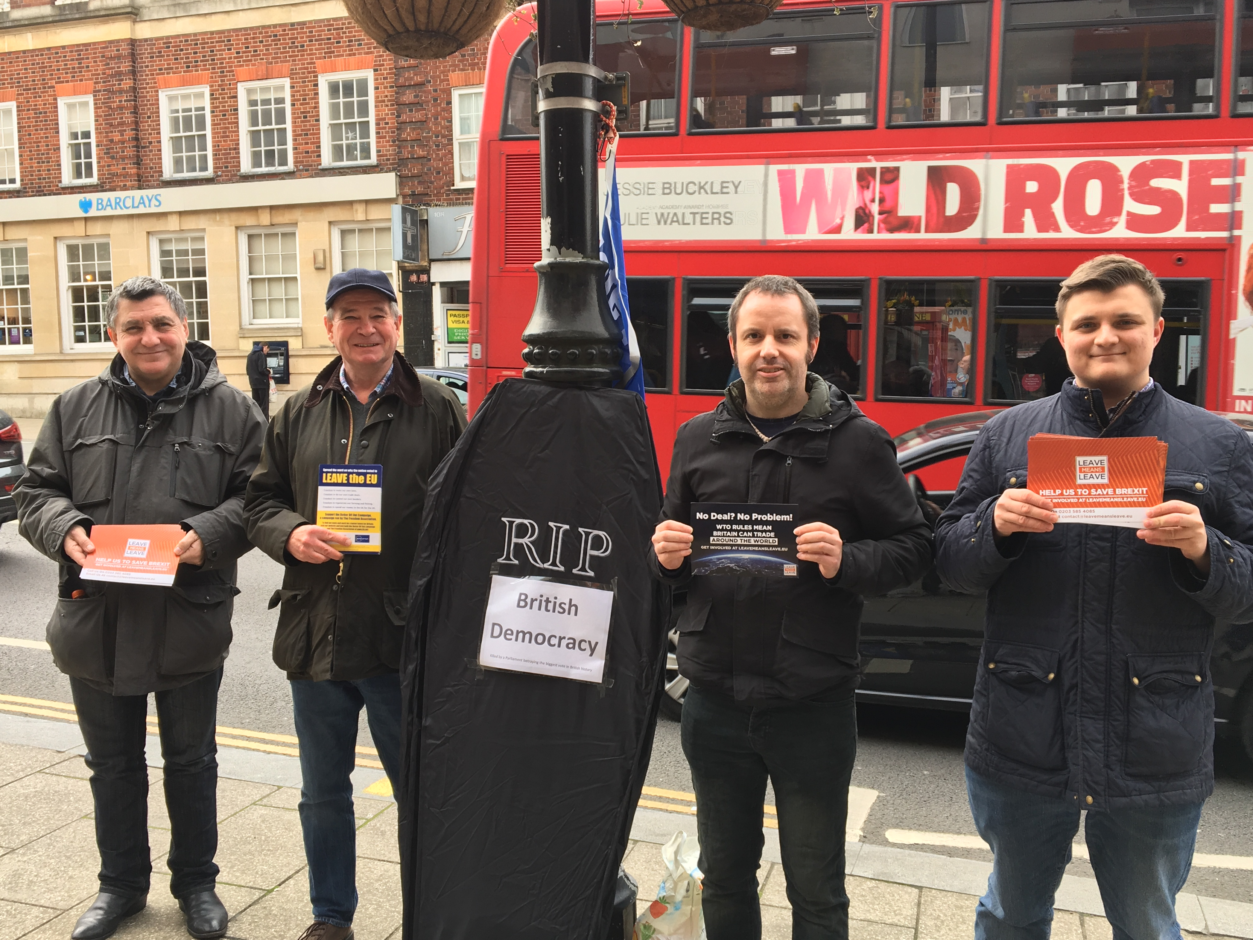 Campaigning for democracy in Wallington