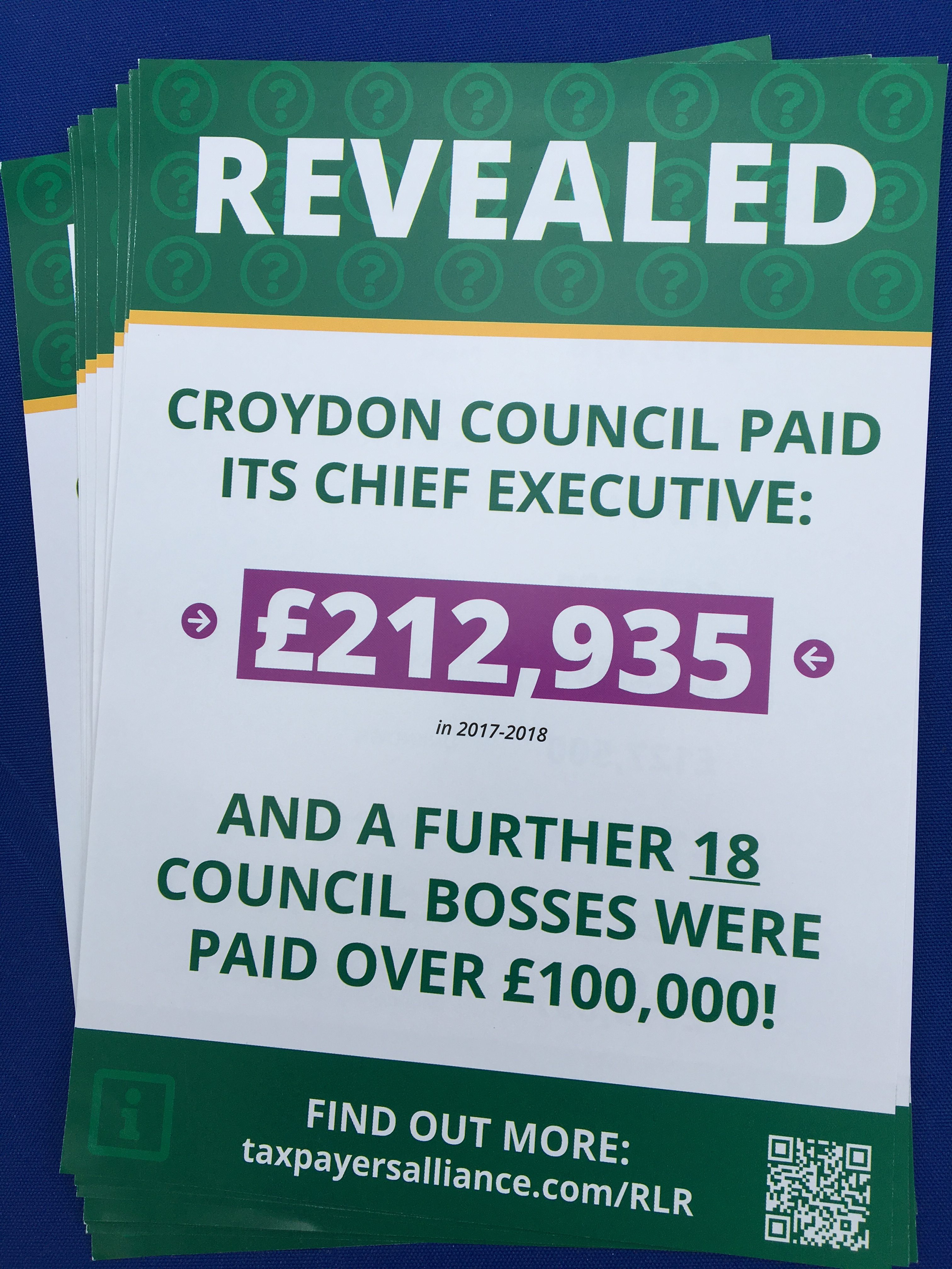 Press Release – CROYDON CONSTITUTIONALISTS TEAM UP WITH TAXPAYERS' ALLIANCE TO SHINE A LIGHT ON WASTEFUL COUNCIL SPENDING