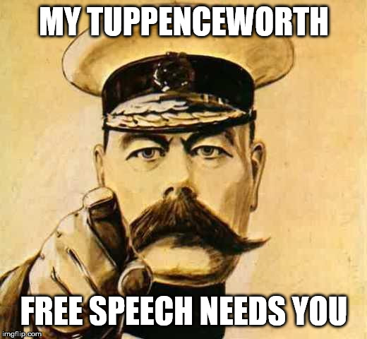 My tuppenceworth – A Free Speech event – photos and speakers.